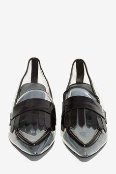 8e8da58367cd Jeffrey Campbell Belan-Kilt Clear Loafer - Shoes
