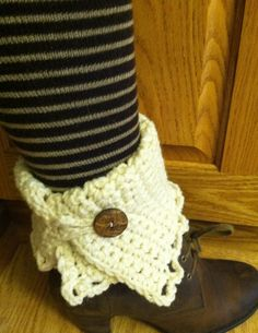 Boot Cuffs can be worn over the boot or inside the boot and folded over the top.   $13.00