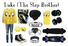 """""""Luke (The Step Brother)"""" by cameron-noel ❤ liked on Polyvore featuring Eos, Converse, Frame Denim, Coal, Ice, Spallanzani and CellPowerCases"""