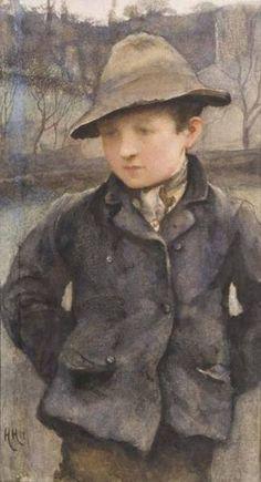 Portrait of a Young Boy Hubert Von Herkomer