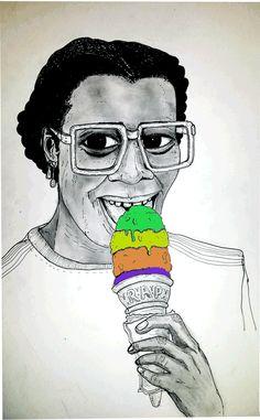 happy girl illustration summer colors glasses ice cream portrait feliz verano pencil icecream ilustracion colores helado niãa gifology anteojos black girl with ice cream trending #GIF on #Giphy via #IFTTT http://gph.is/2aOgNna