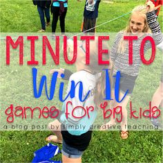 Simply Creative Teaching: Minute To Win It for Big Kids