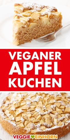 ᐅ EINFACHER VEGANER APFELKUCHEN ᐅᐅᐅ Probier dieses schnelle Rezept! ᐅ Simple vegan apple pie: quick recipe for juicy sponge cake with apples from the springform pan cm). Vegan Apple Cake, Apple Cake Recipes, Meat Recipes, Crockpot Recipes, Cookie Recipes, Apple Pie, Quick Recipes, Fall Recipes, Pumpkin Dessert