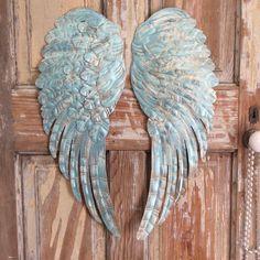 Alas de Ángel de metal grande decoración de la por lilhoneysshoppe