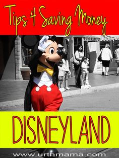Disneyland on a Budget - Awesome Tips for Saving Money - works at Disney World, too. From a mom who has been hundreds of times - going to use this to plan my trip!
