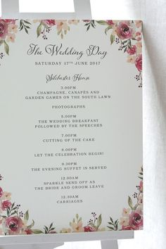 New wedding reception program order accessories 31 ideas Order Of Wedding Reception, Wedding Church Programs, Order Of The Day Wedding, Wedding Order Of Service, Church Wedding Decorations, Welcome To Our Wedding, Wedding Day, Wedding Order Of Events, Wedding Dress