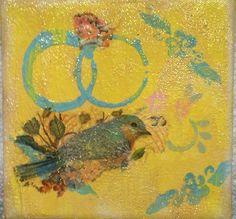 Mixed Media Art Bluebird of Happiness   eBay
