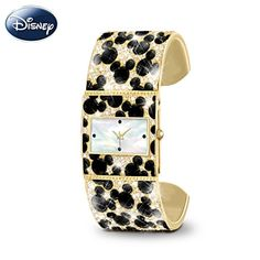 Mickey Mouse Cuff Watch With 300 Crystals