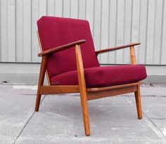 danish teak chair red - Google Search