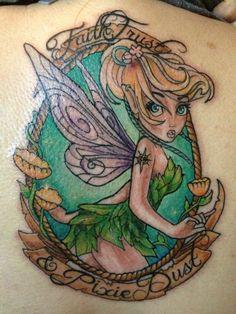 samberriesncream.tumblr.com My moms brand new Tinker Bell tattoo!