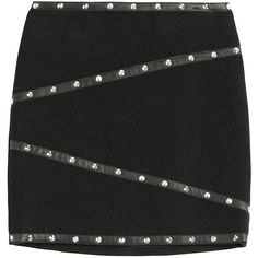 The Kooples Linen-Blend Mini-Skirt ($220) ❤ liked on Polyvore featuring skirts, mini skirts, bottoms, black, the kooples, mini skirt, black miniskirt, short black mini skirt and short skirts