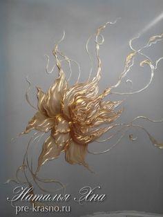 цветы барельеф лепка москва