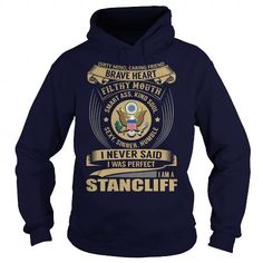 Cool STANCLIFF Last Name, Surname Tshirt T shirts