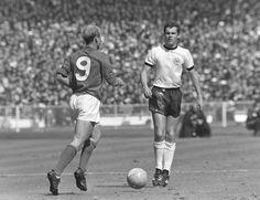 Charlton v Beckenbauer, 1966 World Cup final.