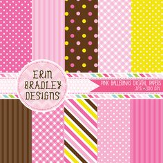 Pink Ballerinas Digital Paper Pack Personal & Commercial Use Instant Download