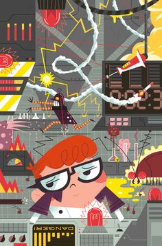 Dexter's Lab Cover for IDW Publishing and Cartoon Network, Andrew Kolb