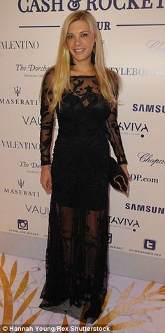 Prince Harry's ex Chelsy Davy turns heads at Cash & Rocket gala dinner #dailymail
