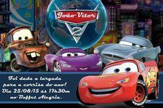 Convite digital personalizado Carros da Disney 017