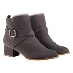 be29ee2077c843 Avon Cushion Walk Ankle Bootie has the look of suede and comes in whole  sizes Click through on pin to start shopping!
