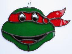Rafael Ninja Turtle Stained Glass