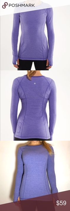 Lululemon Turn Around Long Sleeve Lululemon Turn Around Long Sleeve in Persian Purple. -Size 6. -Reversible. -Like new, no flaws.  NO Trades. Please make all offers through offer button. lululemon athletica Tops Tees - Long Sleeve