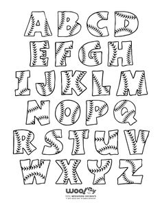 Baseball Alphabet Letters A brand new set of baseball alphabet letters to print, in both small and full page sizes.A brand new set of baseball alphabet letters to print, in both small and full page sizes. Baseball Letters, Baseball Crafts, Baseball Decorations, Baseball Scrapbook, Baseball Fonts Free, Alphabet Letters To Print, Baseball Activities, Doodle Alphabet, Baseball Wreaths