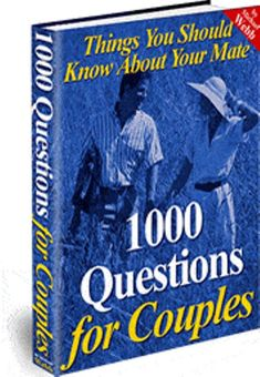 1000 Questions For Couples ebook by Michael Webb. Download as PDF File (.pdf) or read online for free from Webdocs. I once knew of a couple who divorced only three weeks after getting married. Do you know why? It wasn t because of money, sex, or even the fact that one them suddenly behaved differently after they got married. No.… Read More