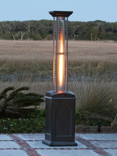 The Stylish Fire Sense Mocha Finish Square Flame Patio Heater Provides A  Uniquely Visual Flame While Providing Heat In Every Direction.