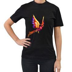 Phoenix+2+Womens'+T-shirt+(Black)+Women's+T-Shirt+(Black) High Quality T Shirts, Tool Design, T Shirts For Women, Phoenix, Cotton, Mens Tops, Creatures, Black, Style