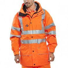 fe2e7e8dfb26 Beeswift Hi-Vis Carnoustie Jacket Orange Jackets Uk