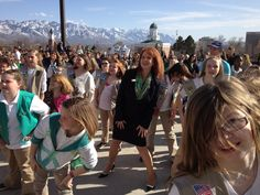 Our CEO, Cathleen Sparrow, joins Utah Girl Scouts in a flash mob on the Utah state capitol's steps.