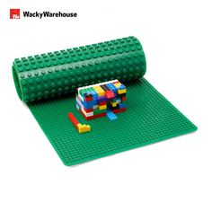 Large LEGO & DUPLO Compatible Baseplate, Measures 32 inches x 12 inches in Green: Amazon.co.uk: Toys & Games