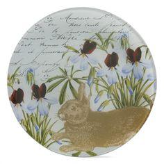 Botanical Bunny Glass Plate from Because I Like U