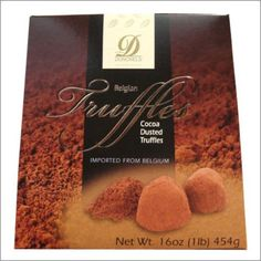 Donckels Belgian Chocolate Truffles Dusted with Premium Cocoa 16 oz (1 lb) 454g - Made in Belgium - http://bestchocolateshop.com/donckels-belgian-chocolate-truffles-dusted-with-premium-cocoa-16-oz-1-lb-454g-made-in-belgium/
