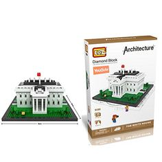 YouCute Loz Micro Blocksthe white house Small Building Block Set Nanoblock Compatible 1170 pcs -- Want to know more, click on the image.Note:It is affiliate link to Amazon. #commentsplease
