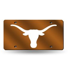 Texas Longhorns NCAA Laser Cut License Plate Tag