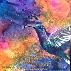 I just love painting hummingbirds