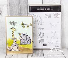 Stampin with Liz Design: Sneak Peek Animal Outing Card!