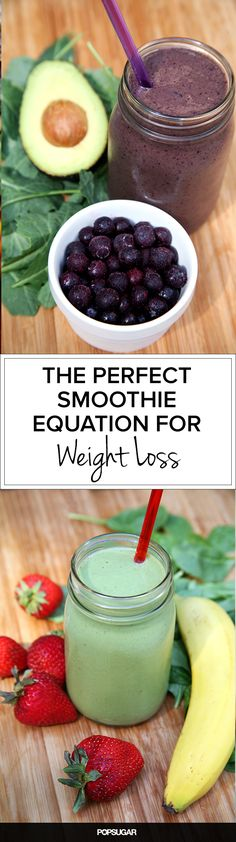 Nutritionists Reveal the Perfect Weight-Loss Smoothie; check out our 2 sample recipes