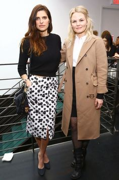 Lake Bell and Jennifer Morrison. See all the celebrities who attended the 2015 Tribeca Film Festival.