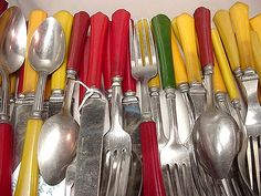 Sorting through my Bakelite-handle flatware | Flickr - Photo Sharing!