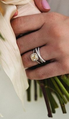 Real-girl ways to style your wedding band and engagement ring.