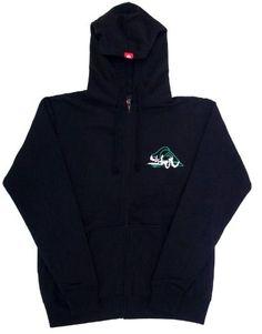 Quiksilver Mens Zip Up Hoodie Black Medium