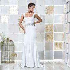 Gio Rodrigues Magdha Wedding Dress beautifull wedding dress mermaid style crepe jeweled application  engaged inspiration unique gorgeous elegant bride