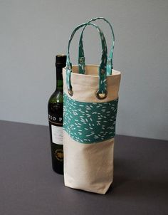 Rogue Theory :: Wine Tote Wine Bottle Bag Case Carrier Holder by RogueTheory… Wine Tote Bag, Tote Bags, Wine Bottle Covers, Small Sewing Projects, Bottle Bag, Handmade Bags, Creative Gifts, Gift Bags, Sewing Tutorials