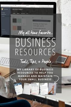 A collection of my all time favorite business resources, tools, tips, products and people. Some of these resources are affiliates I support, but I would never recommend anything to you that I wouldn't 100% back myself. I promise to only offer you the best branding, business, blogging and design resources to help you make that lasting impression.   Julie Harris Design