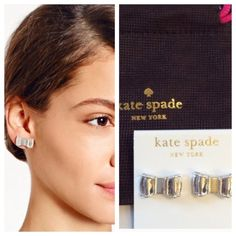 Kate Spade Moon River earrings Iconic silver bow shaped stud earrings with post back. Brand new and never worn, comes with dust pouch. kate spade Jewelry Earrings