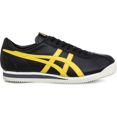 Onitsuka Tiger Tiger Corsair leather trainers ($68) ❤ liked on Polyvore featuring men's fashion, men's shoes, men's sneakers, mens leather shoes, onitsuka tiger mens shoes, mens leather lace up shoes, mens sport shoes and mens lace up shoes