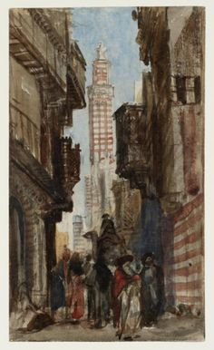 'Street in a Near Eastern Town', William James Müller, 1838 | Tate