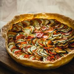 a simple ratatouille tart